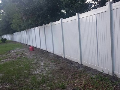 Fence photo after washing